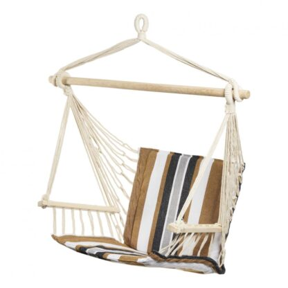 HR Suspended hammock Black & Brown STRIPE 94X50