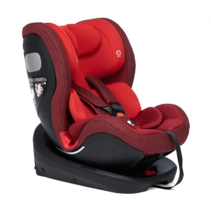 360gr rotating car seat with Isofix, Red