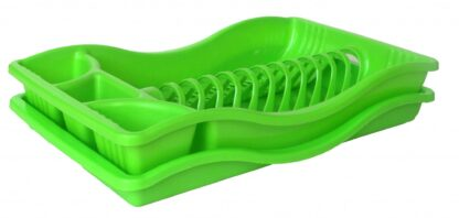 SUPPORT FOR VESSELS WITH TRAY 45x27x8.6CM, GREEN