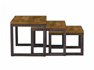 SET OF 3 COFFEE TABLES LUNA