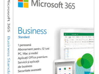 Retail Cloud License Microsoft 365 Business Standard Romanian Subscription 1 year Medialess P6