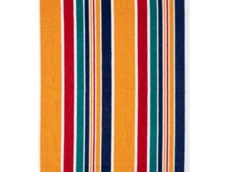 NAVY STRIPES BEACH TOWEL 70X140CM