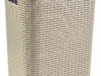 LAUNDRY BASKET  45 L BEIGE, 34,5x41x46 CM