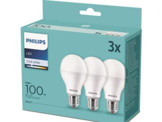 SET 3XLIGHT BULB LED PHILIPS E27 8718699694906