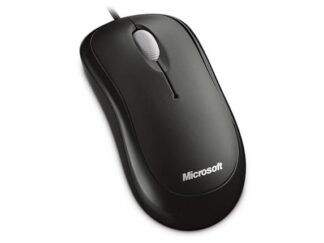 MOUSE MICROSOFT WIRED optical USB Black