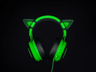 KITTY EARS FOR RAZER KRAKEN GREEN