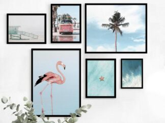 Set of 6 Summer decorative paintings