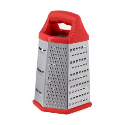 GRATERS 6 SIDES, 14X12X23 CM, RED
