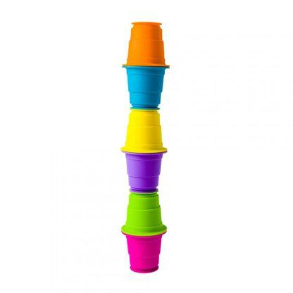 Fat Brain Set of 6 colored silicone cups