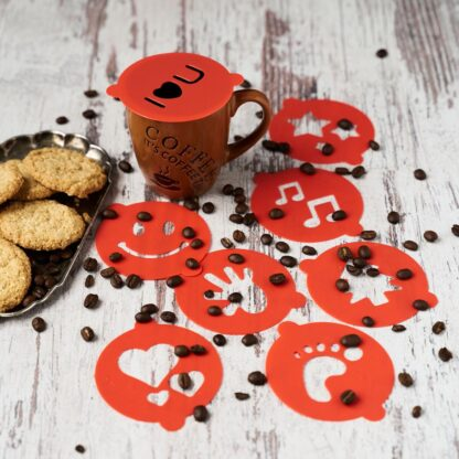 SET OF 8 COFFEE / CAPPUCCINO DECORATION FORMS