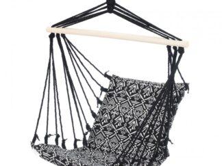 HR suspended hammock BLACK & WHITE 100x60