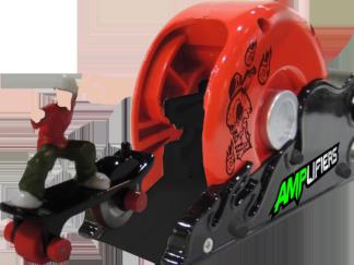 Amplifiers, skateboard and launcher- Bern