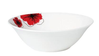 PORCELAIN BOWL 15 CM, RED FLOWERS
