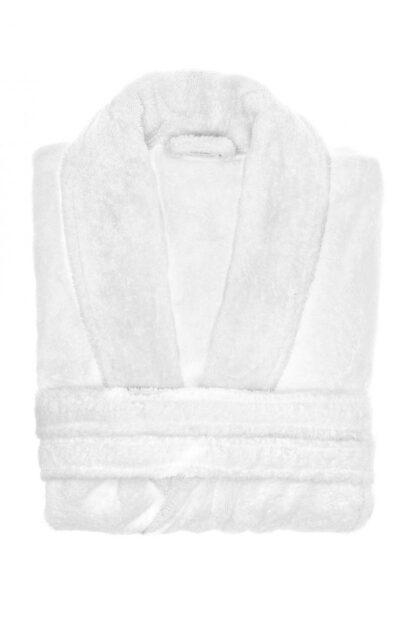 ORGANIC BBC WHITE MEN'S BATHROBE - WHITE