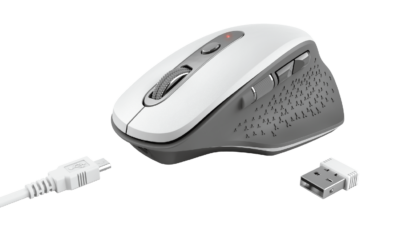 Trust Ozaa Rechargeable Wireless Mouse White