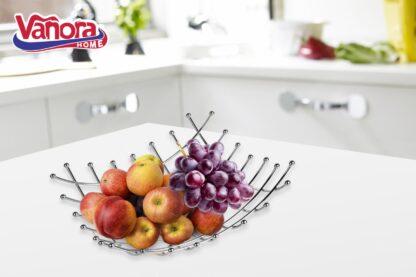 Metallic fruit basket 26x26x9 CM