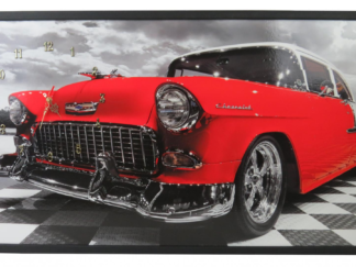 Clock framed picture 50X100 CM CHEVY