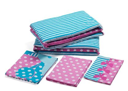 Printed bed linen elephants (5pcs)