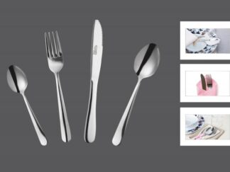 Steel cutlery set 24 pieces ATHENA