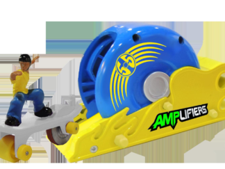 Amplifiers, skateboard and launcher- Rip