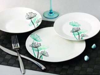 TABLE PLATES 18 PIECES PORCELAIN, FLOWER