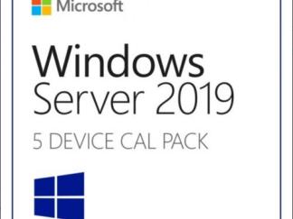 Microsoft Windows 2019 Server License, English, 5 CAL Device