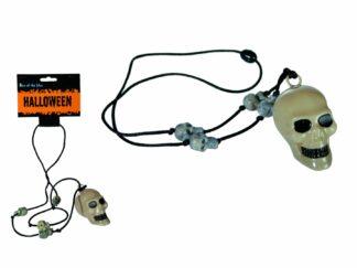 Skull necklace, plastic