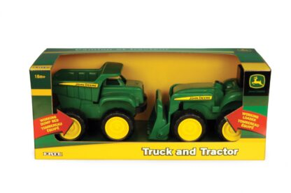 Dump truck and tractor