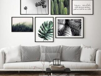 Set of 6 decorative Leafs paintings