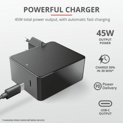 Trust Summa 45W Universal USB-C Charger