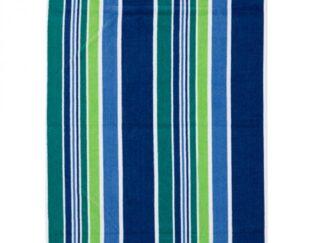 TURQUOISE STRIPES BEACH TOWEL 70X140CM