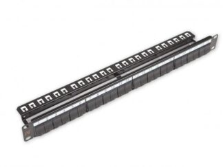 NEXANS Patch Panel 24 Ports SNAP-IN UNPOPULATED BLACK