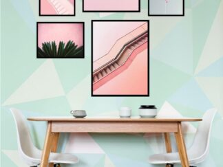 Set of 5 Pink decorative paintings