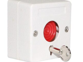 Panic button with key