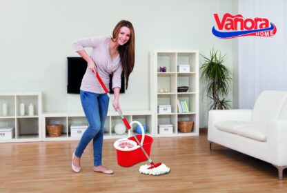 PRIMO CLEANING SET, 360 ROTARY MOP, RED