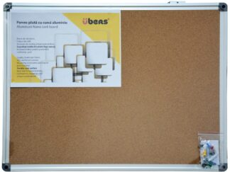 Cork panel aluminum frame 90x120cm Ubers