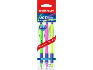 Ball point retractable pens Joy Neon, 3 pcs set EK
