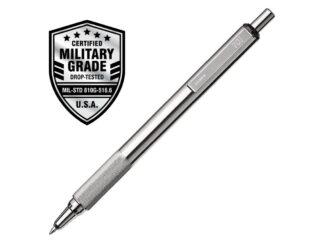 Zebra F-xMD Retractable Stainless Steel Ball Pen