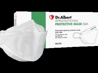 DrAlbert FFP2 Disposable respiratory protective masks single use SLIM-1308 - 10EA