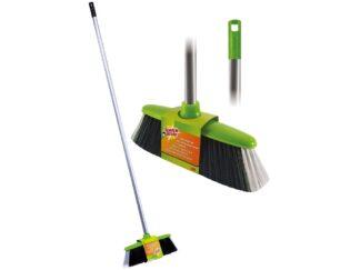 Indoor broom with metal handle ScotchBrite