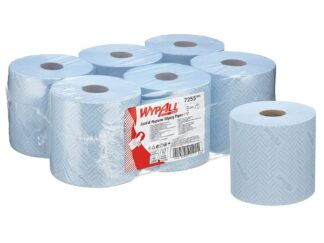 WypAll L10 Food & Hygiene Wiping Paper - Centrefeed / Blue / 1 ply