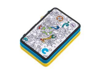 Carioca Color 2 fitted zipper pencil case