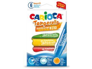 Solid stick tempera Carioca Temperello 6 / set