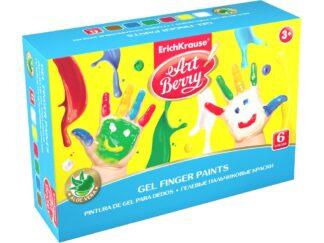 Gel finger paints ArtBerry with Aloe Vera 6 colors by 100ml EK
