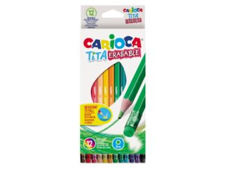 Color pencils Tita Erasable 12 pcs/set Carioca