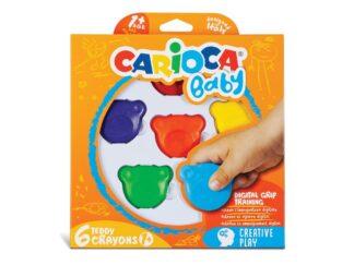 Carioca Baby 1+ Teddy wax crayons