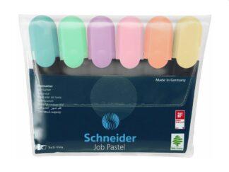 Textmarker Schneider Job Pastel 6/set