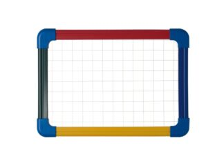 Schoolmate laptop board, non magnetic/grided. Magnetic A4 4 colours plastic frame