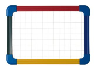 Schoolmate laptop board, non magnetic/grided. Magnetic A3 4 colours plastic frame