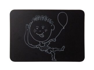 Frameless black chalk board, A4 with acccessories